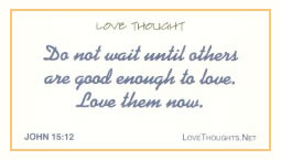 Love Thoughts with Bible Verse